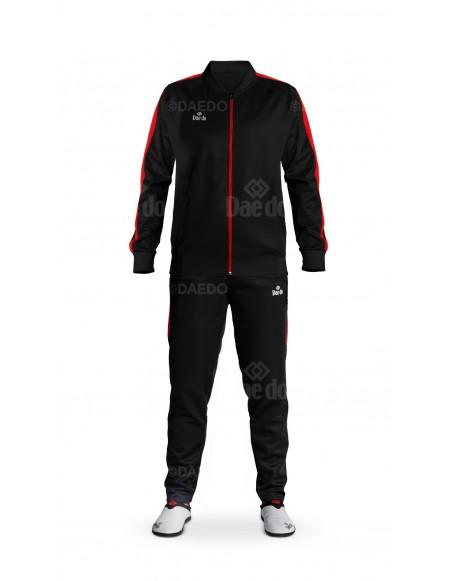 Chándal Slim Fit Negro/Rojo