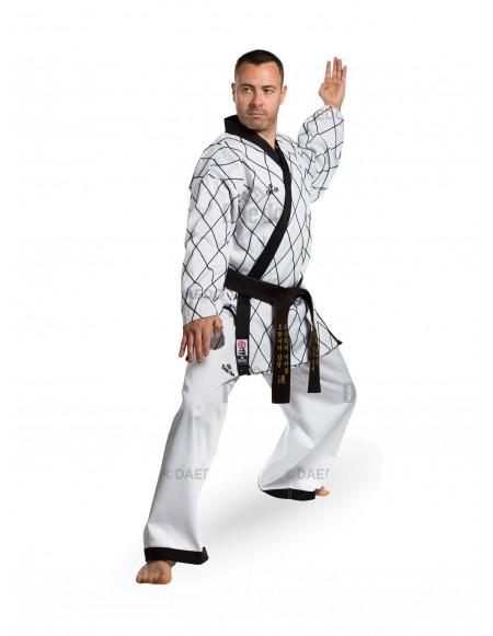 Rhombus Embroidery Hapkido Uniform