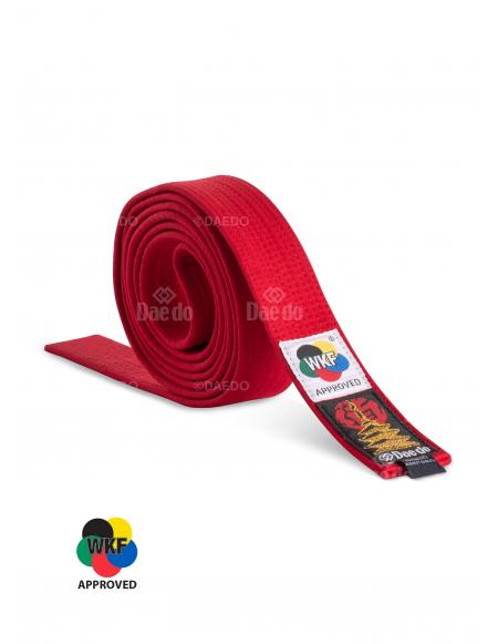 Cinturón Adulto Rojo WKF Alta Calidad...
