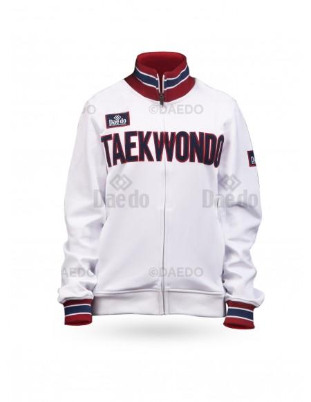 """Chaqueta Slim """"Taekwondo"""" Blanca"""