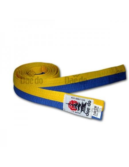 Kyokushin Kid Belt Yellow-Blue 240 cm