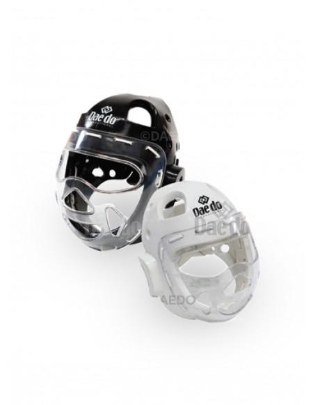 Casco con máscara transparente