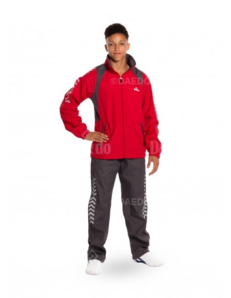Tracksuit - Red / Grey