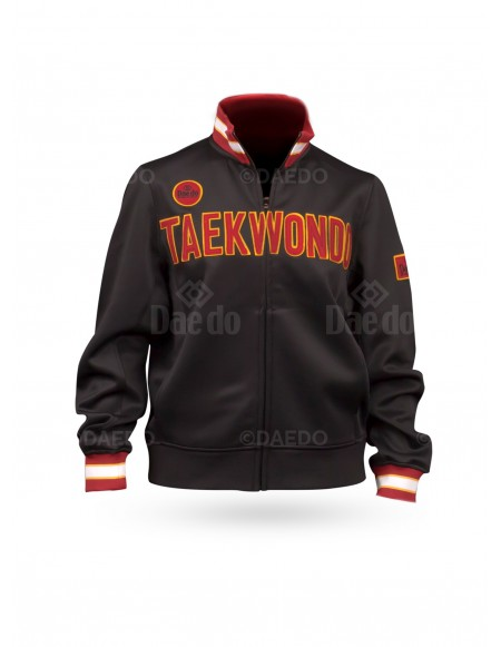 "Chaqueta Slim ""Taekwondo"" Negro"
