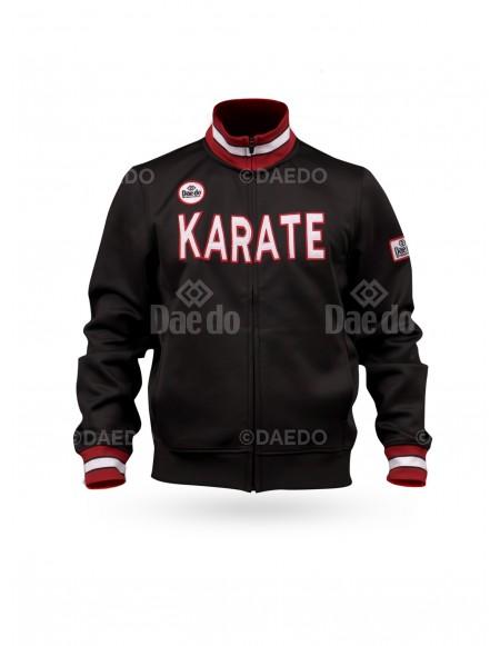 "Chaqueta Slim ""Karate"" WKF Negro"